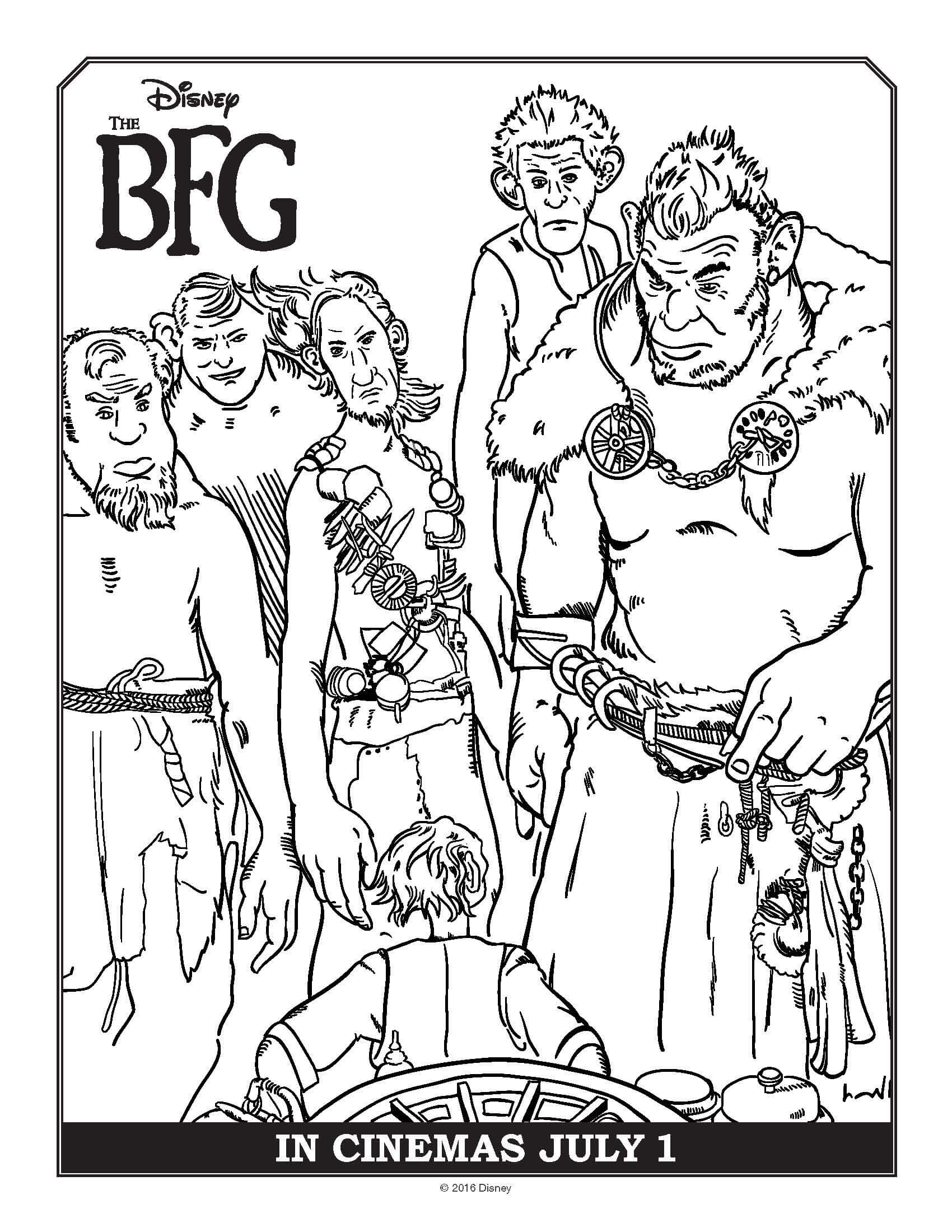 Bfg Movie Coloring Pages