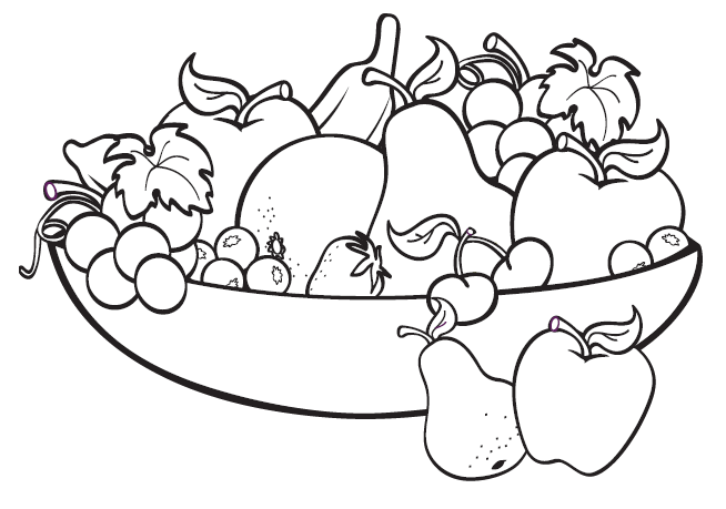 Bowl Of Pears Coloring Page