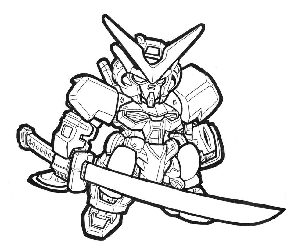 Chibi Gundam Coloring Pages
