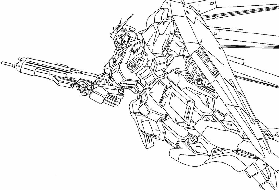 Cool Gundam Coloring Pages