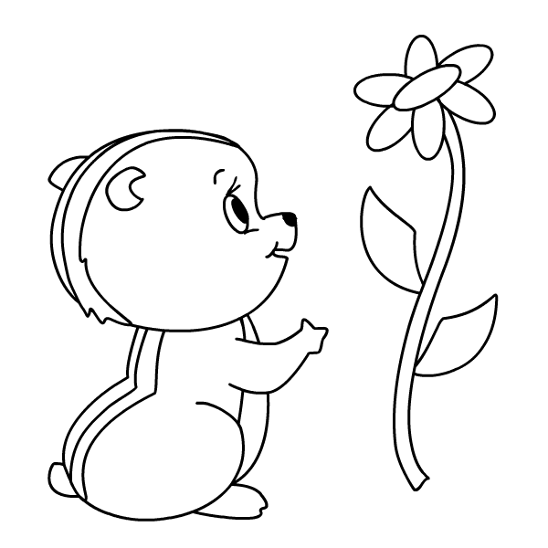 Cute Chipmunk Coloring Page