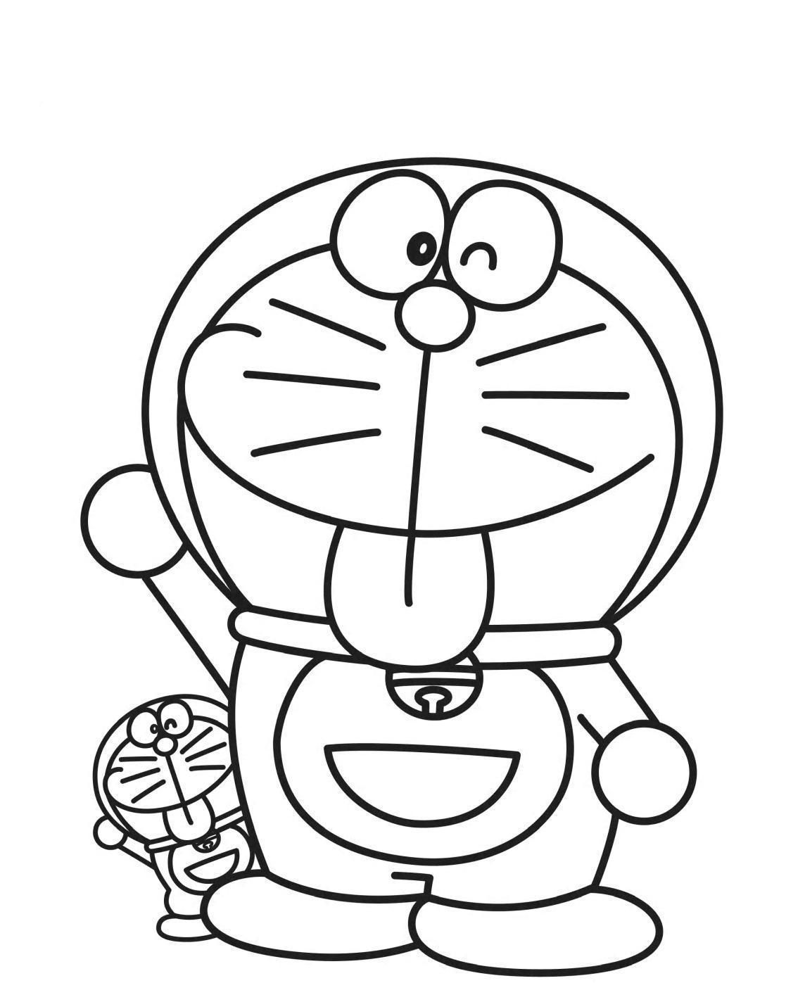 Cute Doraemon Coloring Page