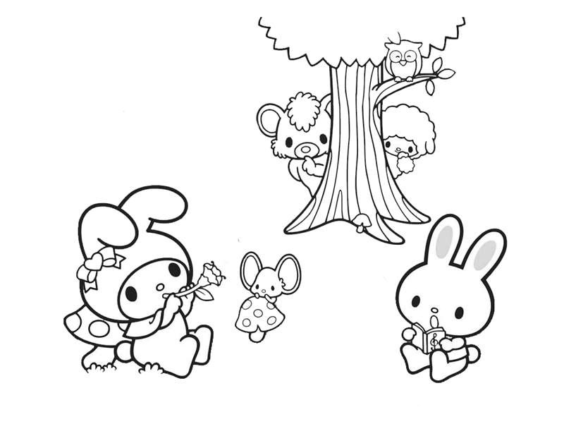 Cute My Melody Coloring Pages