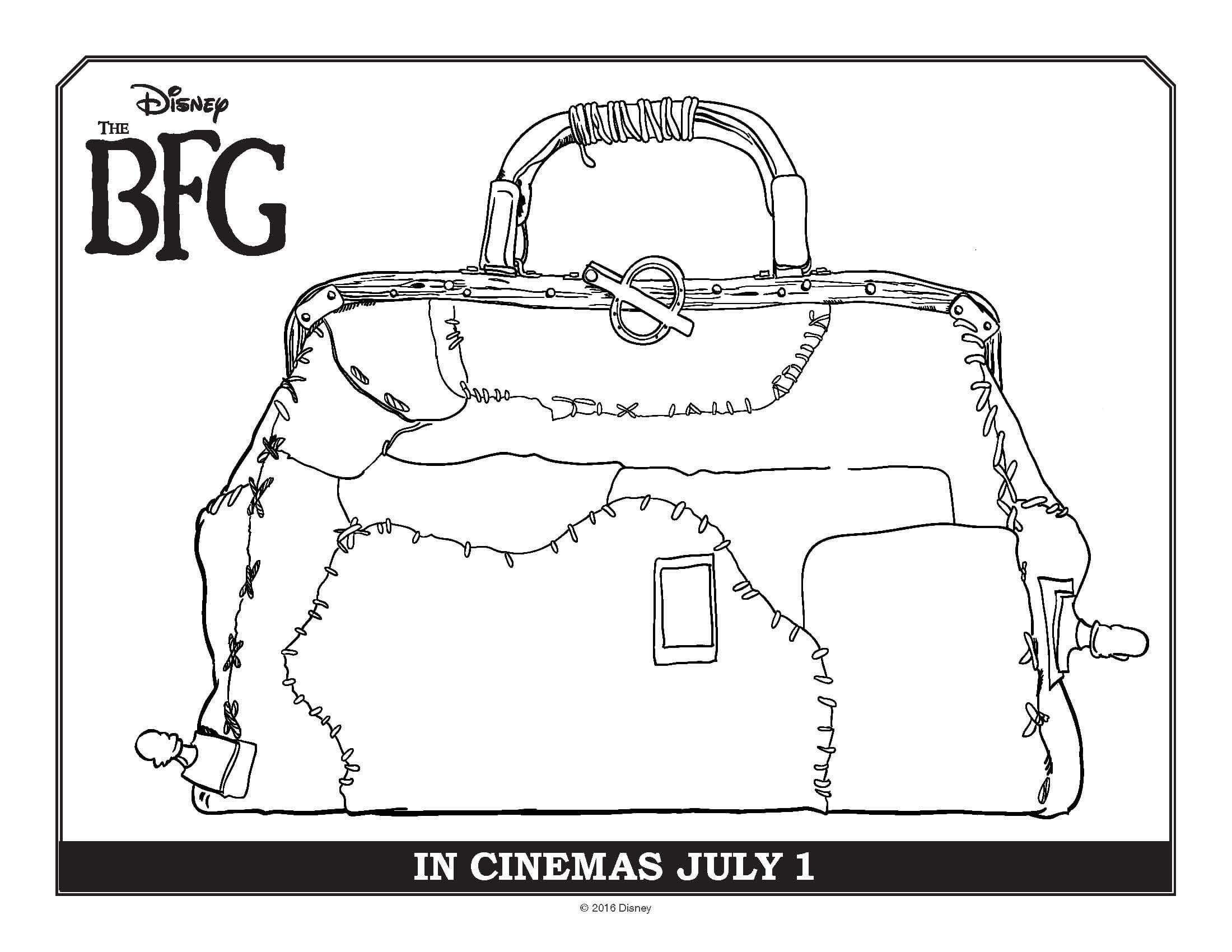 Disneys Bfg Movie Coloring Page