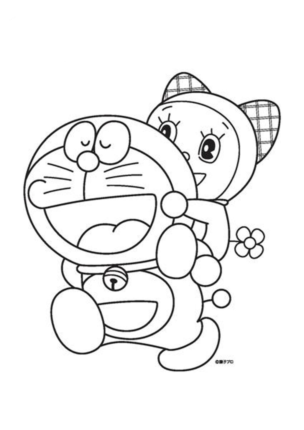 Dorami Piggeyback Coloring Page