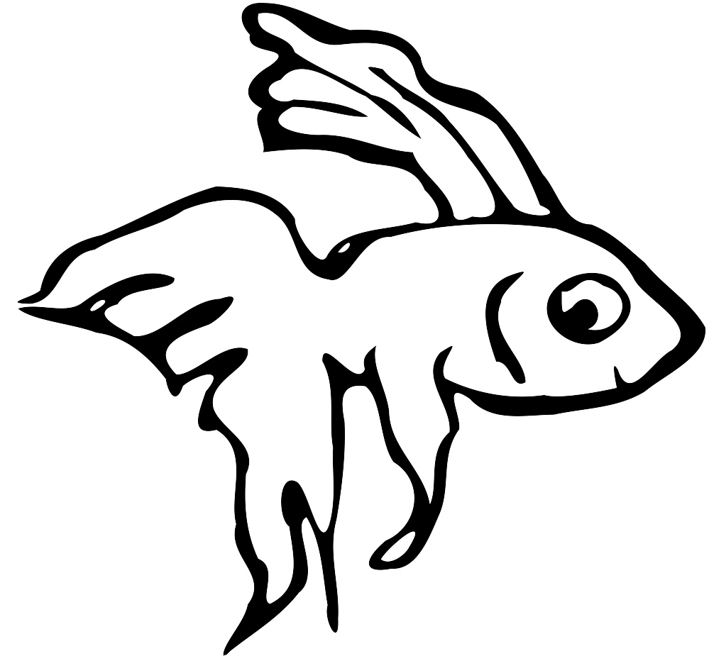 Easy Betta Fish Coloring Pages