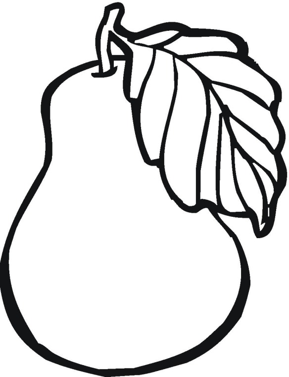 Easy Pear Coloring Page