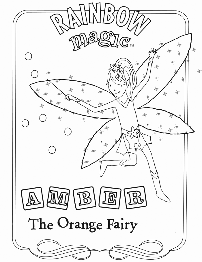 Fairy Magic Coloring Page