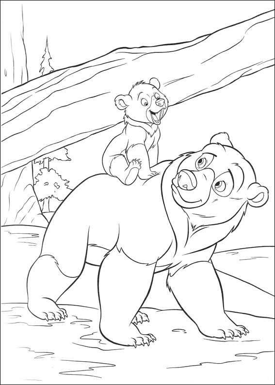 Fun Brother Bear Coloring Pages