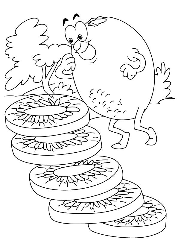 Funny Kiwi Coloring Pages