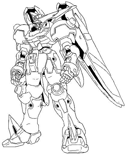 Gundam Suit Coloring Pages