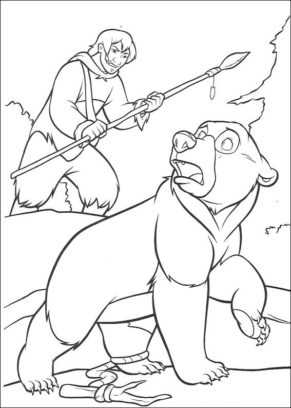 Hunting Brother Bear Coloring Pages
