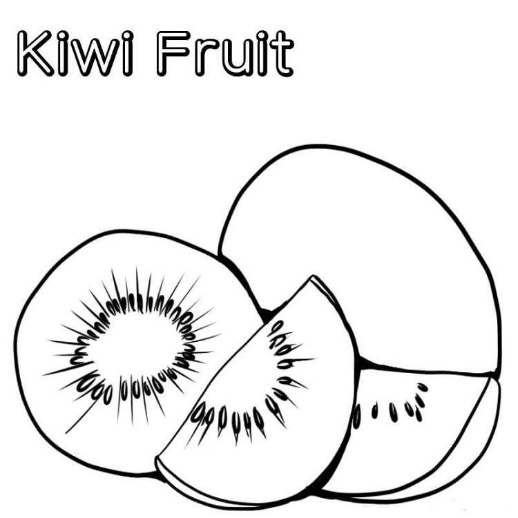 Kiwi Fruit Coloring Page