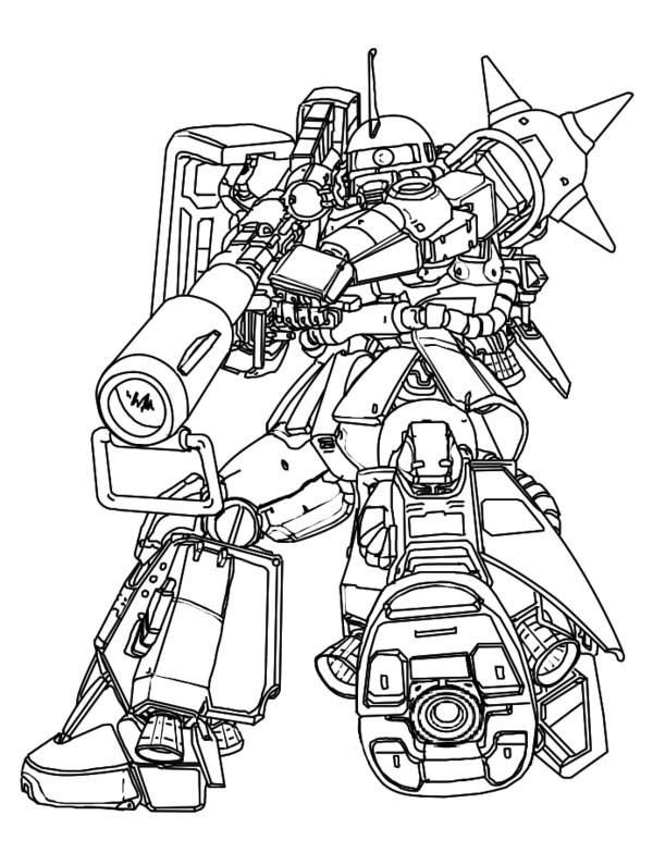 Mobile Suit Gundam Coloring Pages