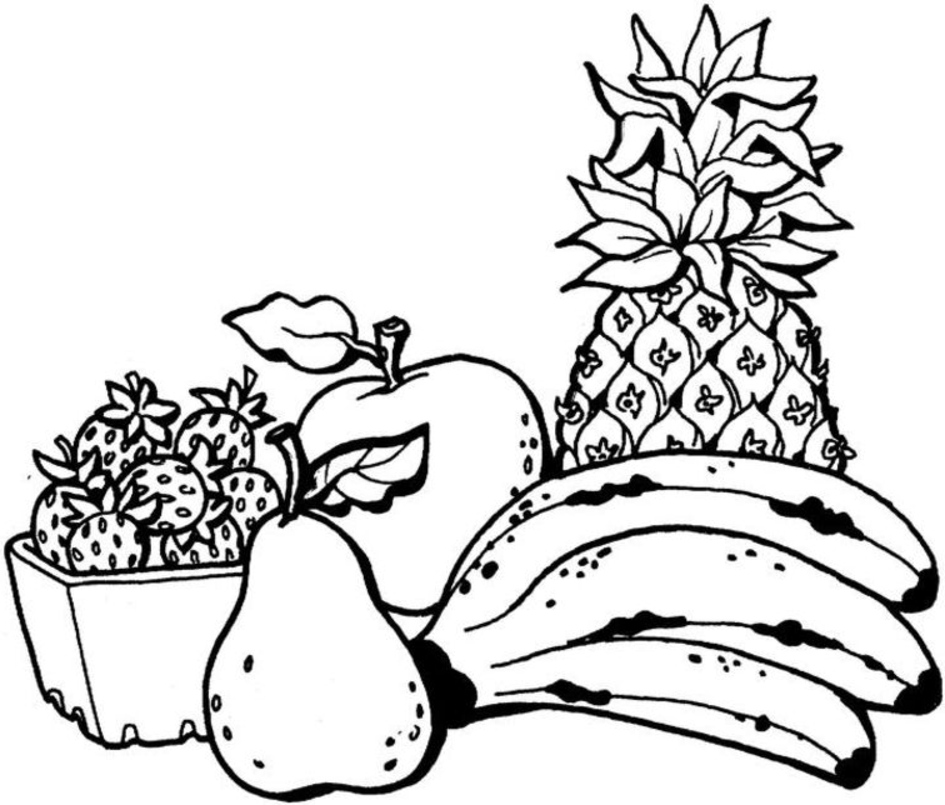 Pear Fruit Coloring Pages