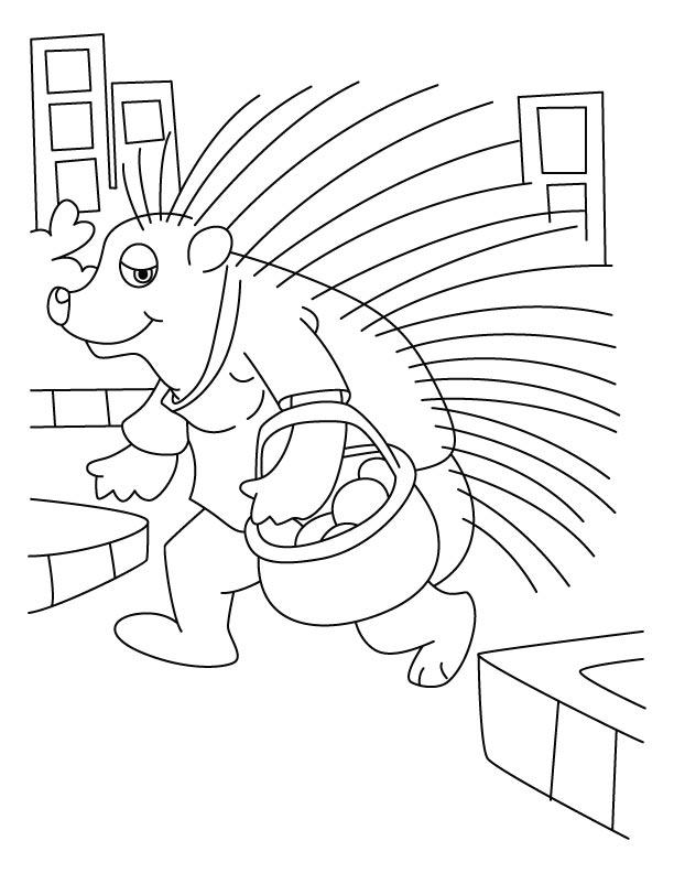 Porcupine Coloring Sheet