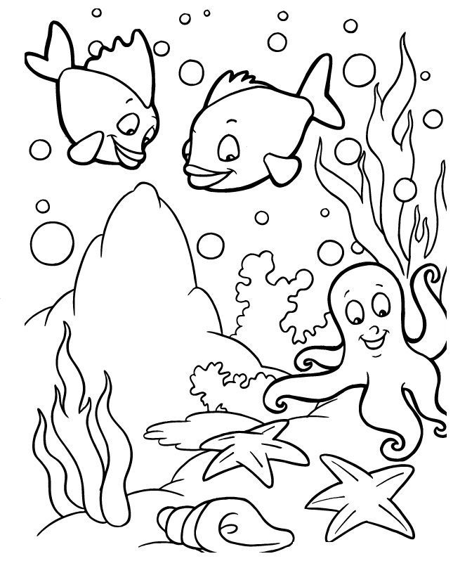 Printable Coral Coloring Pages