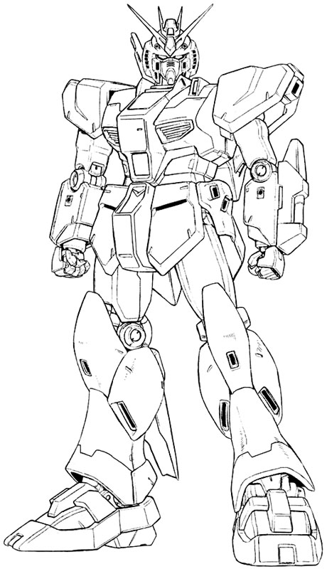 Printable Gundam Coloring Pages