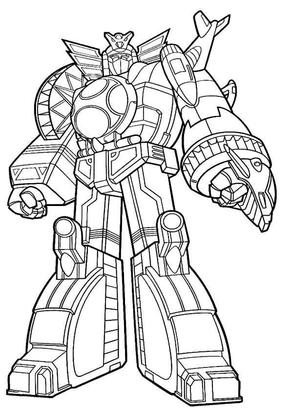 Robotic Gundam Suit Coloring Pages
