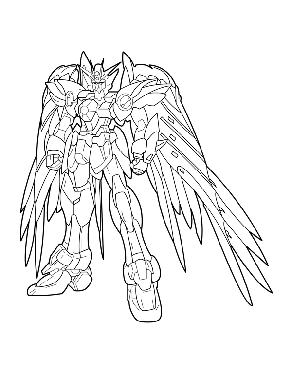 Winged Gundam Coloring Pages