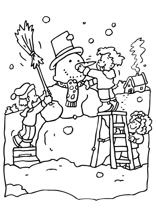 Winter Season Fun Coloring Page