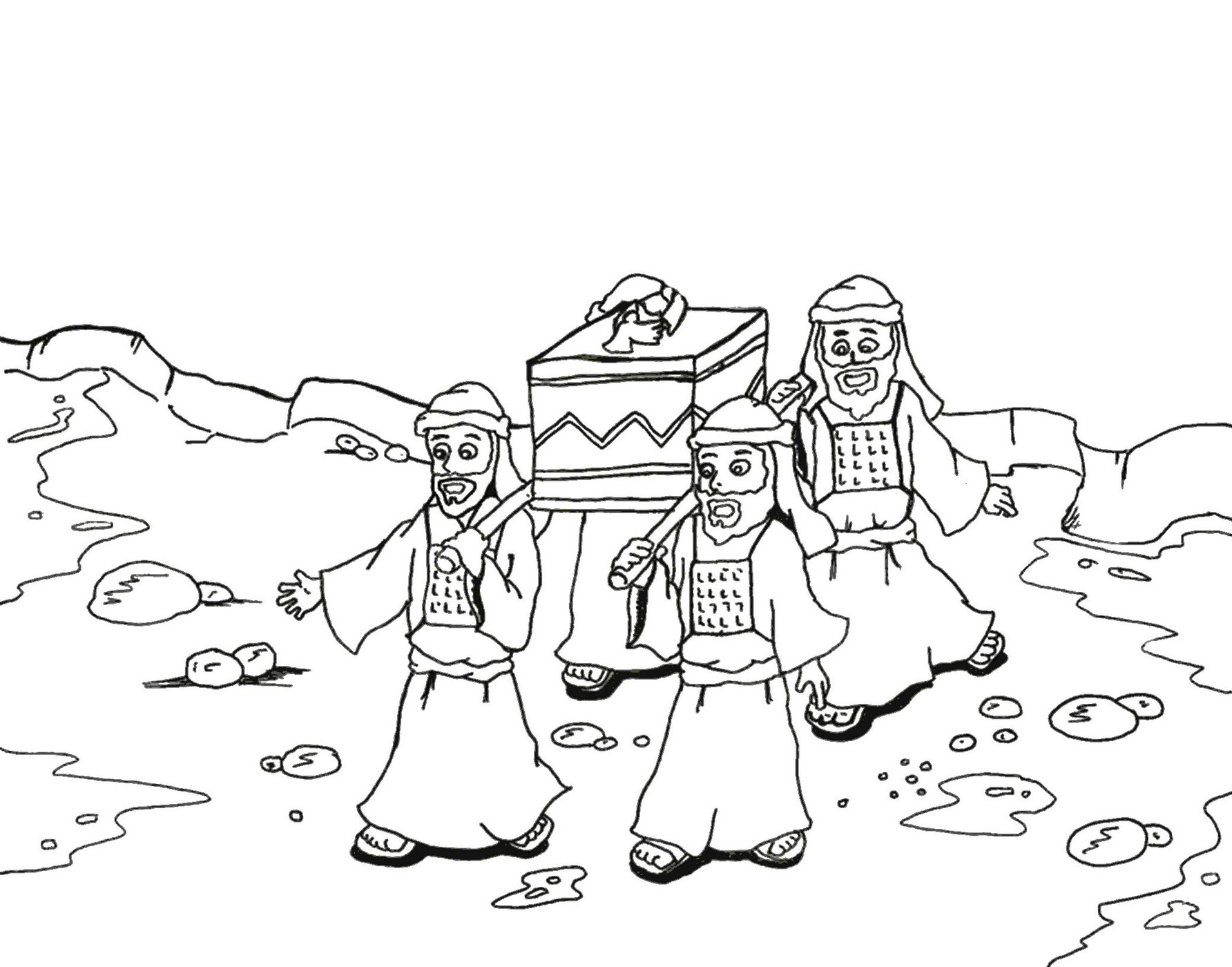 Arc Of The Covenant Coloring Page
