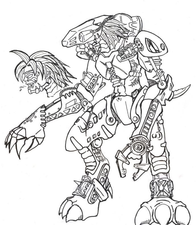 Bionicle Printable Coloring Pages