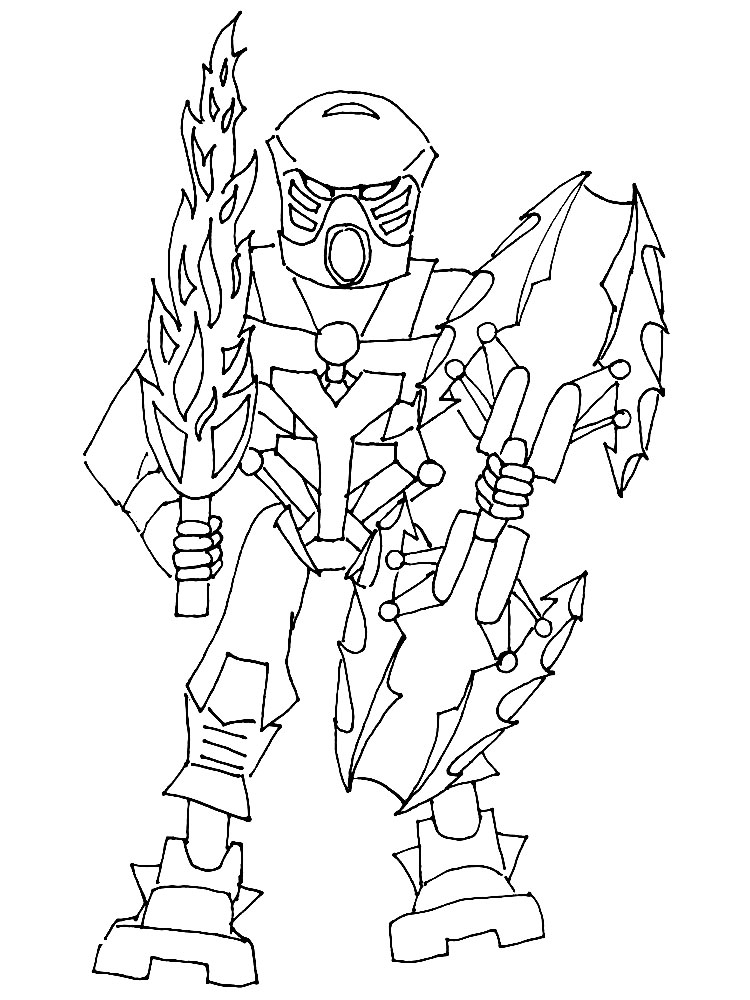 Bionicles Coloring Page