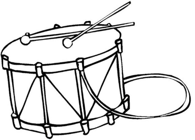 Drum With Strap Coloring Page