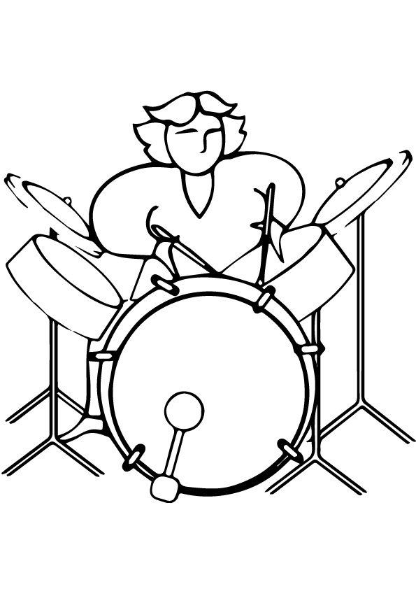 Drummer Coloring Pages