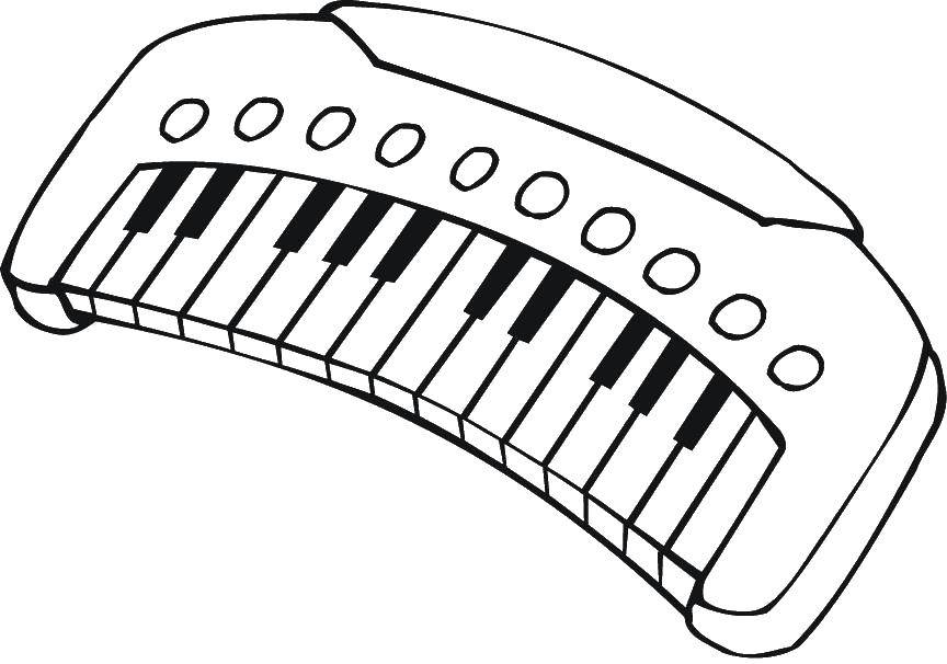 Electic Keyboard Piano Coloring Pages