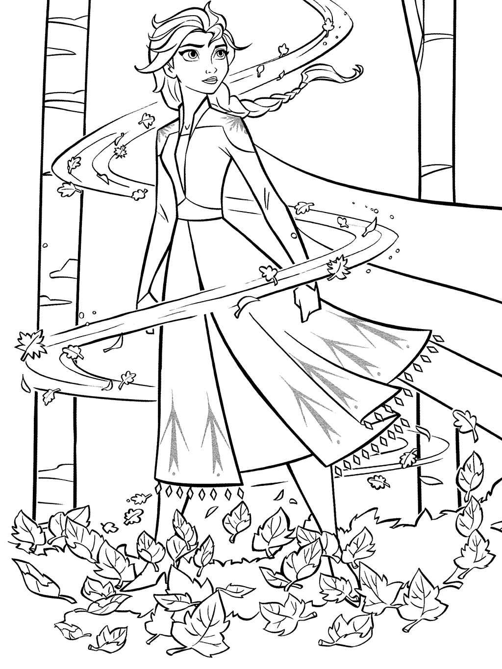 Elsa Changes The Weather Coloring Page