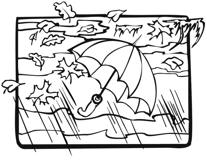 Fall Weather Coloring Page