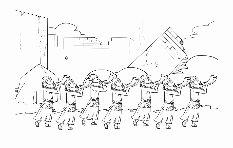 Fall Of Jericho Coloring Page