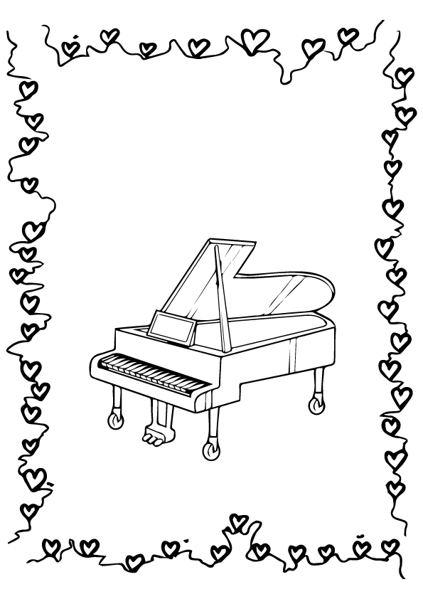 Grand Piano Coloring Pages