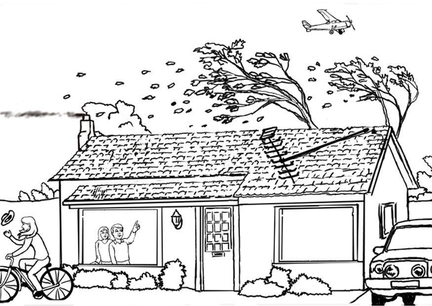 Hurricane Printable Coloring Pages