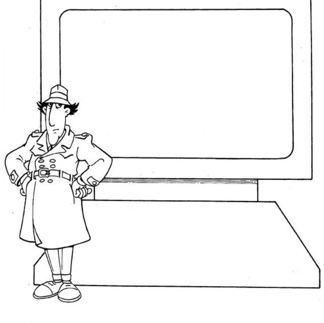 Inspector Gadget Computer Coloring Page