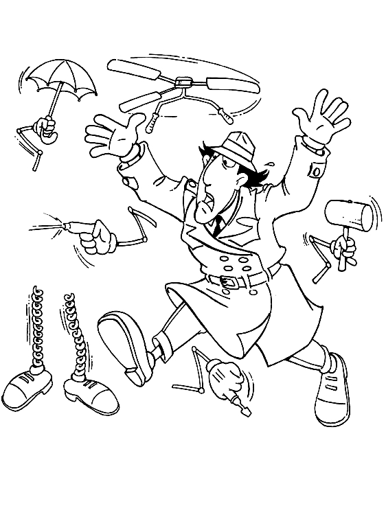 Inspector Gadget Parts Coloring Page
