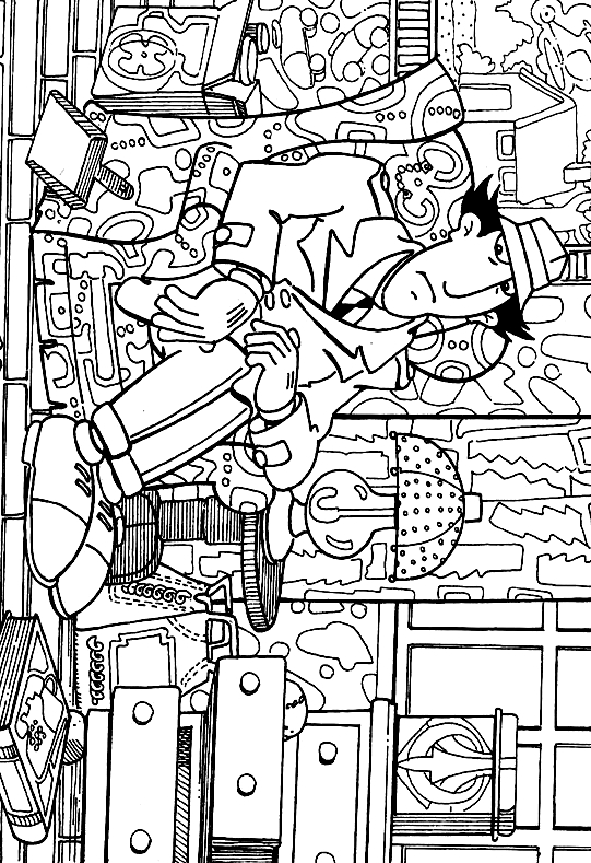 Inspector Gadgets Home Coloring Page