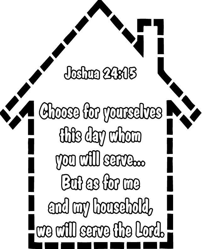 Joshua Bible Phrase Coloring Page