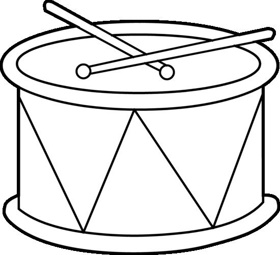 Single Drum Coloring Page
