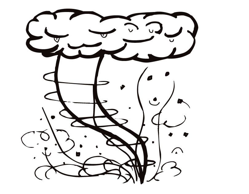 Tornado Weather Coloring Page