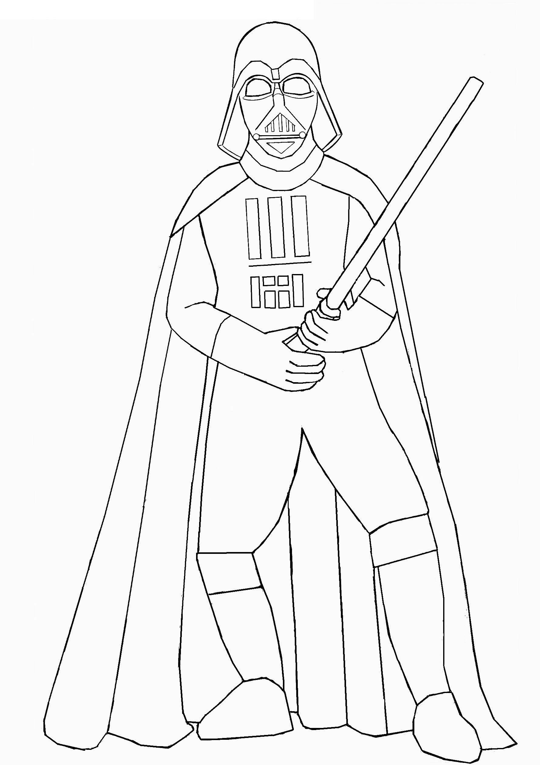 Vader Lightsaber Coloring Pages