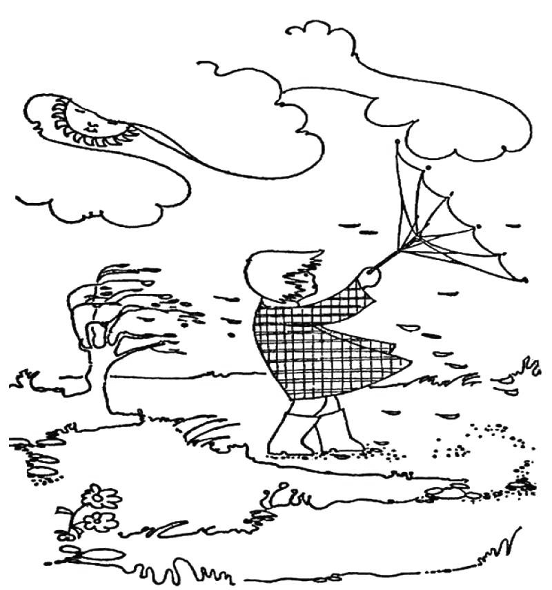 Windy Hurricane Coloring Pages