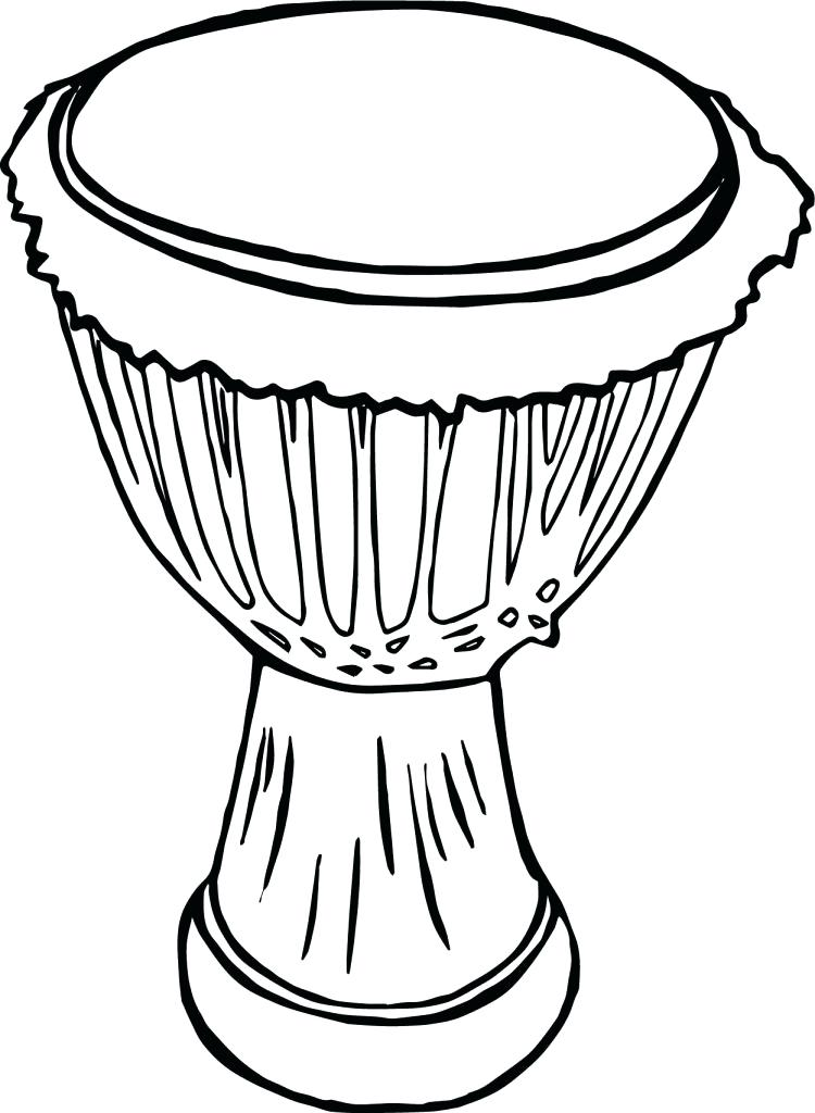 African Drum Coloring Pages