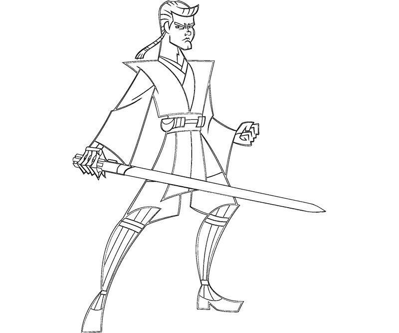Anakin Coloring Page