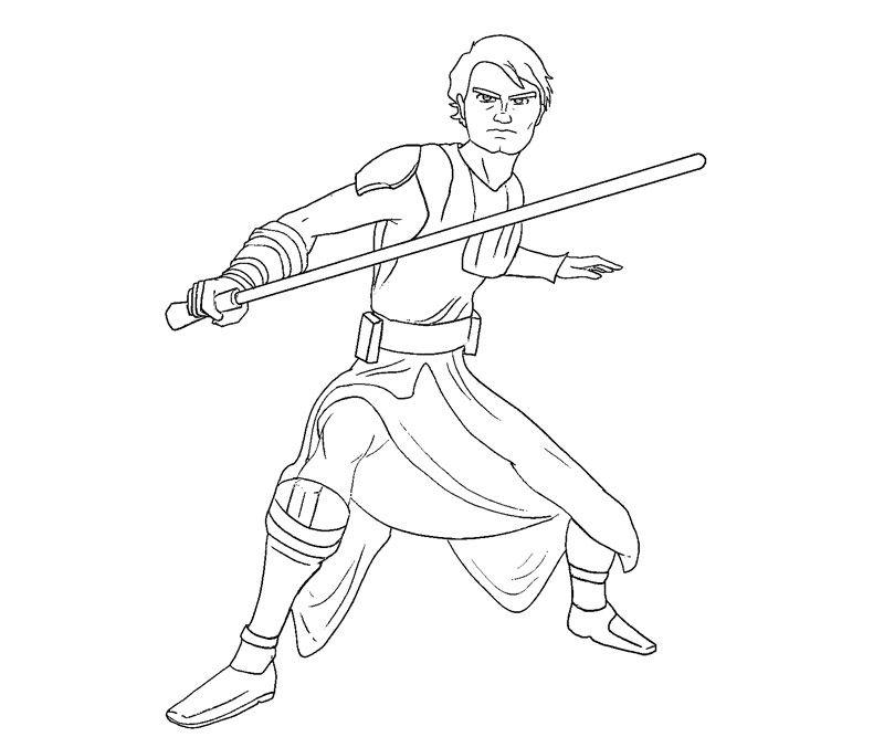 Anakin Skywalker Coloring Page (2)