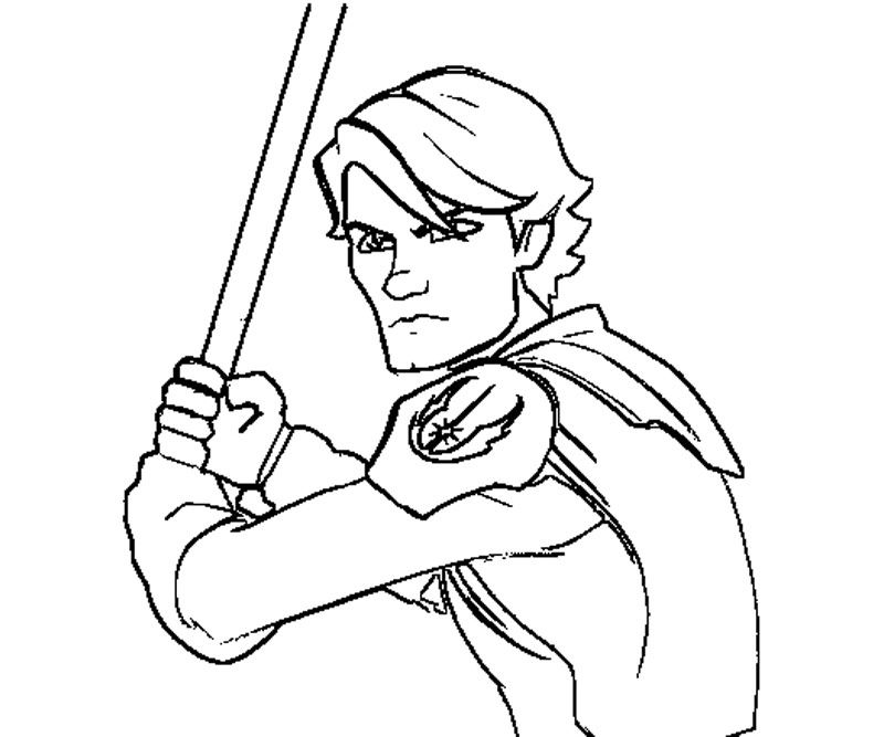 Anakin Skywalker Coloring Page