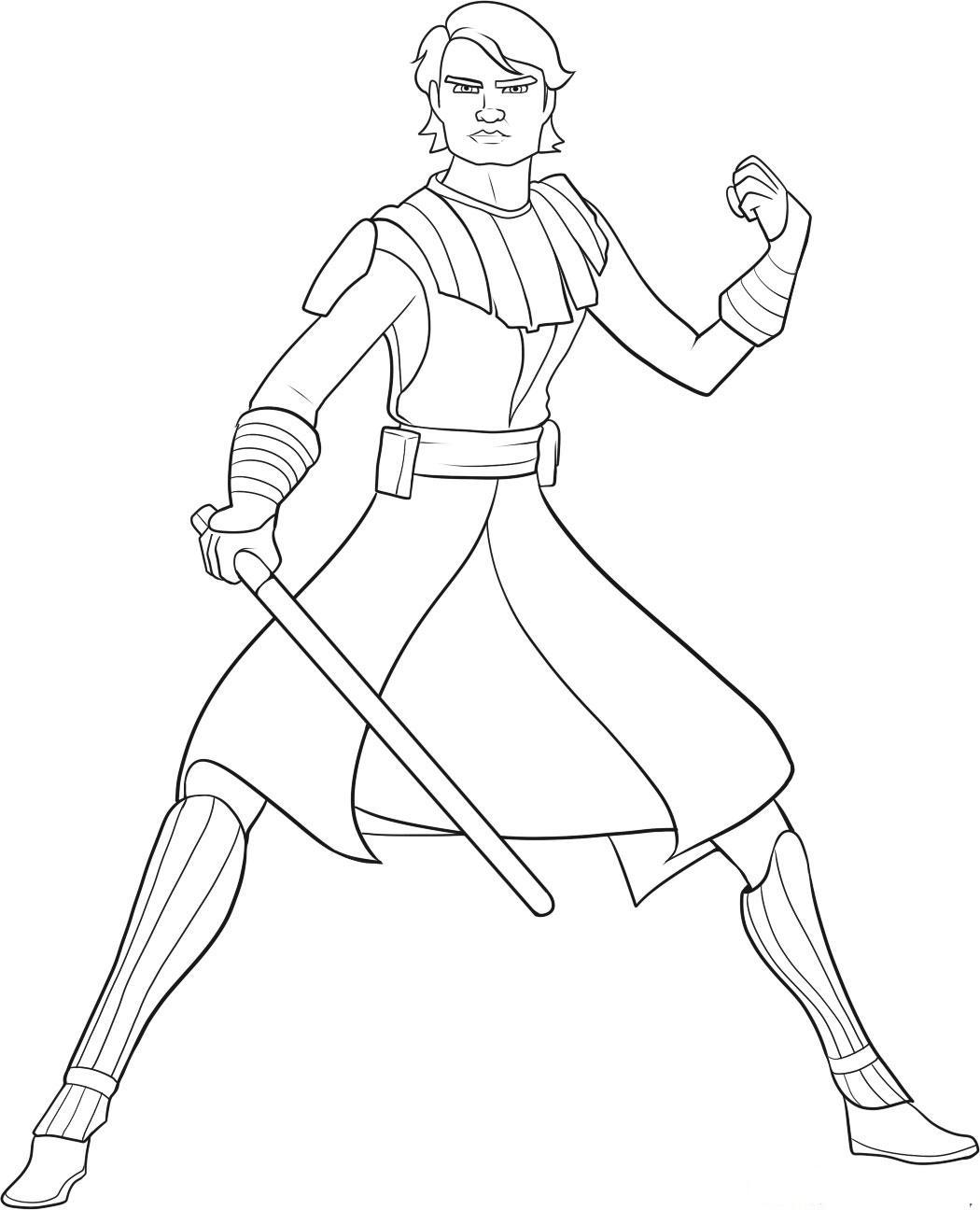 Anakin Skywalker Printable Coloring Page