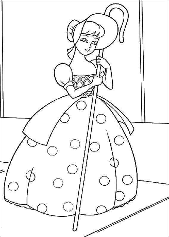 Bo Peep Coloring Page